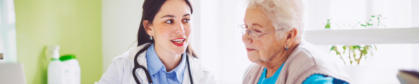 Doctor speaking with a senior patient